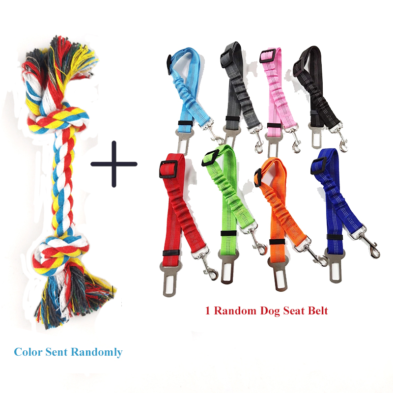 1 Pcs Dog Bite Rope Toys Pets Dogs Supplies Pet Dog Puppy Cotton Chew Knot Toy Durable Braided Bone Rope Funny Tool Random Color 9