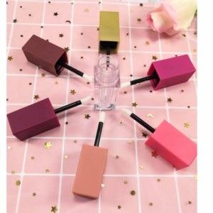 Image 3 - 10/30/50pcs Quadrato Vuoto Tubo Lip Gloss, rosa Chiaro/Matte Lip Gloss Bottiglie Riutilizzabili, bottiglia di Plastica Liquida Contenitore di Rossetto