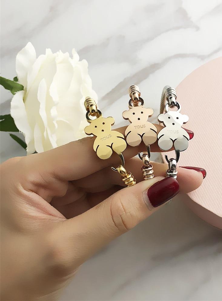 NEW TOUSES Bear Jewelry Fashion Hot Pendientes Alloy Letter Bracelet Chain Charm Bracelet Female Personality Joyas Anillo