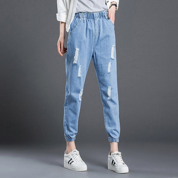 Plus Size 3XL Harem Jeans Women Casual Denim Pants Women Jeans Femme Trousers Ripped Jeans Winter Pantalones Vaqueros Mujer plamtee stretch embroidery ripped jeans for woman 2017 calf length vaqueros mujer skinny jeans femme denim flare pants plus size