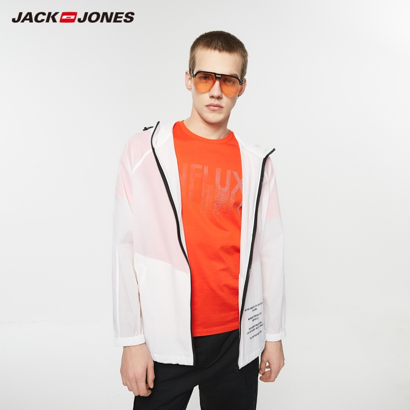 Jack Jones Men's Streetwear 100% Cotton Fashion Letter Print Round Neckline Short-sleeved T-shirt Menswear| 219201516