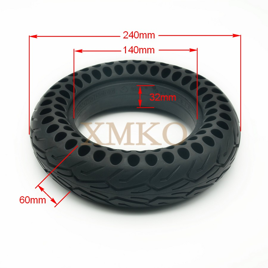 10 Inch Electric Scooter Moped Tire Tyre 10x2.5 Solid Hollow Out Explosion Proof