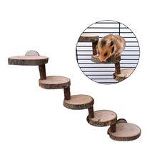 Perches-Cage Hamster Ladder-Suspension-Bridge Wooden Pet-Toys Climbing-Stairs 3/5-Layers