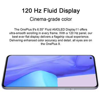 Global Rom OnePlus 9 5G Snapdragon 888 8GB 128GB Smartphone 6.5'' 120Hz Fluid AMOLED Hasselblad Camera OnePlus Official Store 6