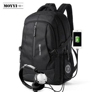 "Image 3 - MOYYI Men Travel Backpack Large Capacity Teenager Male Mochila Anti thief Bag 14 15.6 17.3"" Laptop Backpack Waterproof Bags"