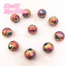 8/12mm Rondelle Austria Faceted Crystal Glass Beads Loose Spacer Round Beads Ball DIY Jewelry Making For Bracelet Necklace 5meter faceted glass rondelle beads chains gold plated wire wrapped loop black glass rosary chain necklace bracelet charms