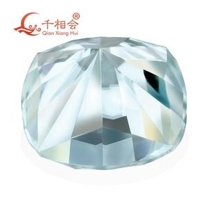 Image 4 - blue color  cushion shape dia mond cut Sic material  Moissanites loose stone