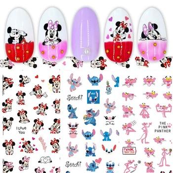 1PCS Disney Cartoon Anime Mickey Mouse Princess Cartoon Nail Sticker Snow White Donald Duck Nail Decoration Repair Decal 1