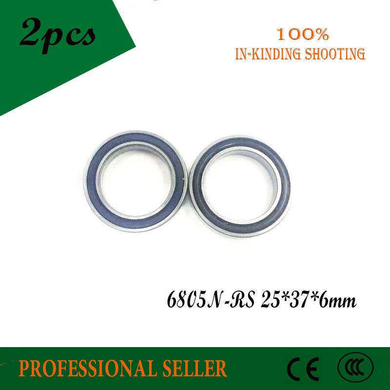 2pcs 6805N 6805N-RS SI3N4 stainless steel hybrid ceramic bearing <font><b>25x37x6</b></font> 6805N 25376 bike wheel bottom bracket bearing image