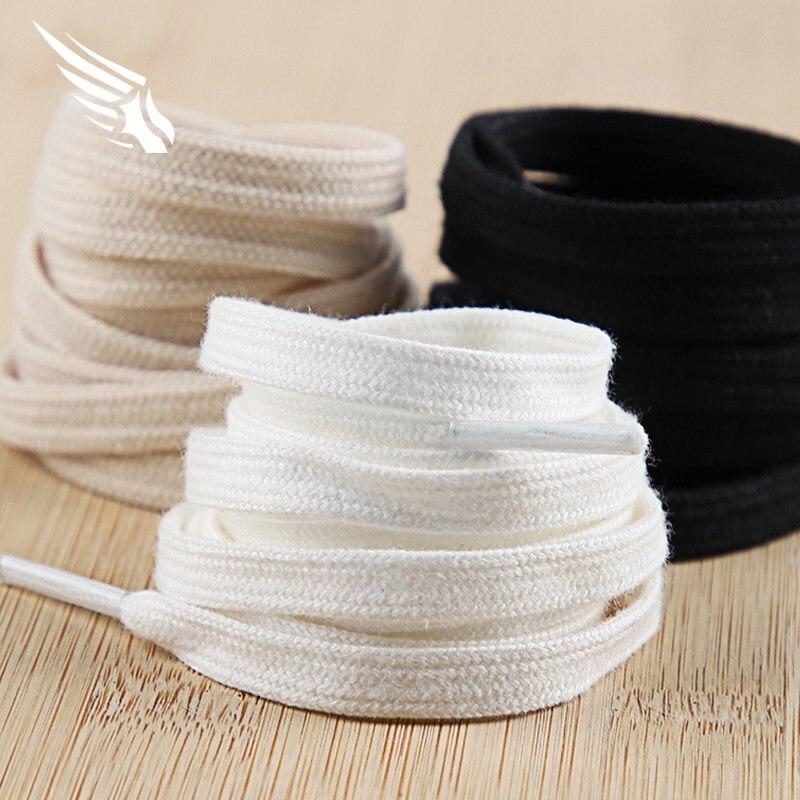 1 Pair Cotton Flat Shoes Laces Canvas Available Length Double Layer Shoelaces