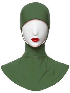 Image 2 - Ramadan Muslim Women Inner Cap Full Cover Islamic Under Scarf Hijab Hat Headwear Ninja Bonnet Amira Niquabs Solid Color Fashion