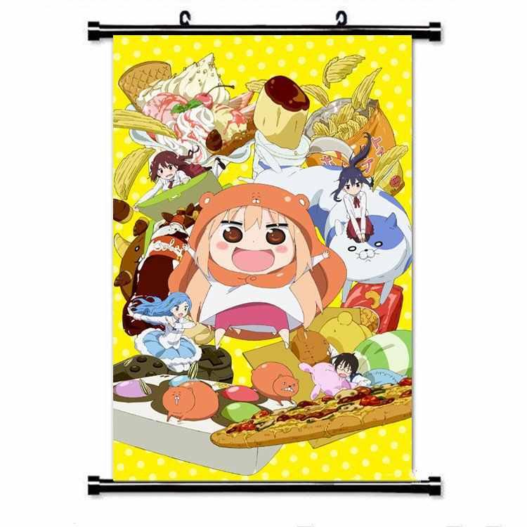 Anime Himouto! Umaru-chan duvar tuvali kaydırma posteri ev dekor japon karikatür sevimli kız dekor duvar sanatı kaydırma resimleri