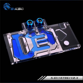 Bykski GPU cooler Full Cover Graphics Card Water cooling Block for Gigabyte GTX1070 G1 1060 G1 GAMING N-GV1070G1V2-X image
