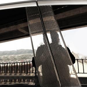 Moldura de 6 uds para ventana de fibra de carbono para Benz C/E/GLC/GLA/GLE clase W205 W213 X253 W117 W156 W166 W204