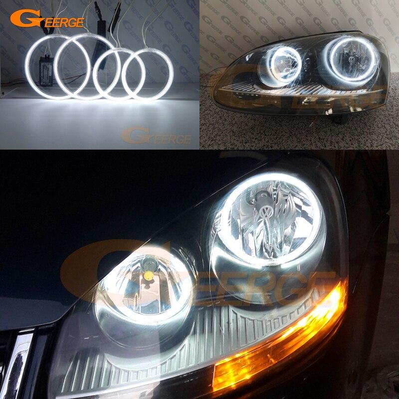 Excellent Ultra Bright CCFL Angel Eyes Kit Halo Rings For VOLKSWAGEN VW Golf 5 V Mk5 2004 2005 2006 2007 2008 2009