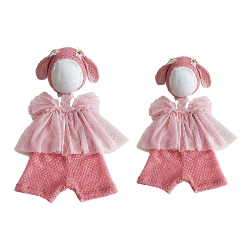 3 Pcs//set Baby Costume Photo Photography Prop Outfits Infants Hat Pants Tops