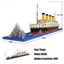 Loz 1860個タイタニッククルーズ船模型ボートdiyダイヤモンドlepiningビルディングブロックレンガキット子供のおもちゃ