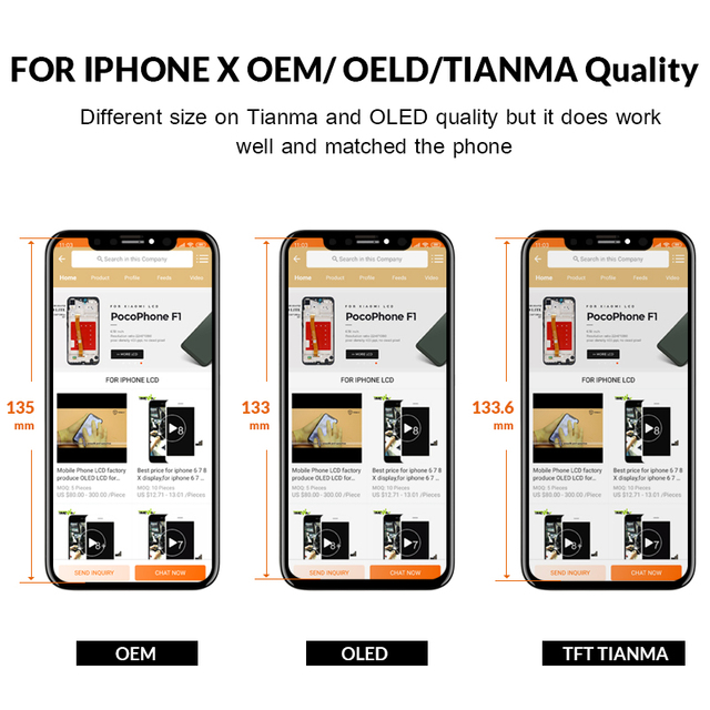 For iphone X XS XSMax XR LCD Display Screen For Tianma AMOLED OEM Digitizer Parts with Touch Screen Assembly For iphone 11 LCD