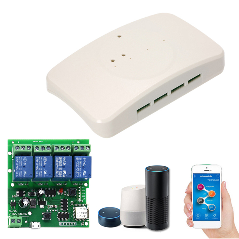 Smart Remote Control Module 4CH 10A Relays WIFI Wireless Universal Switch Smart Remote Work with Alexa Google Home eWeLink APP