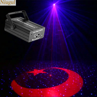 RGB Star With Moon Patterns Effect Stage Laser Lighting Music Control Scanner Laser Show System DJ Home Party Star Effect Laser