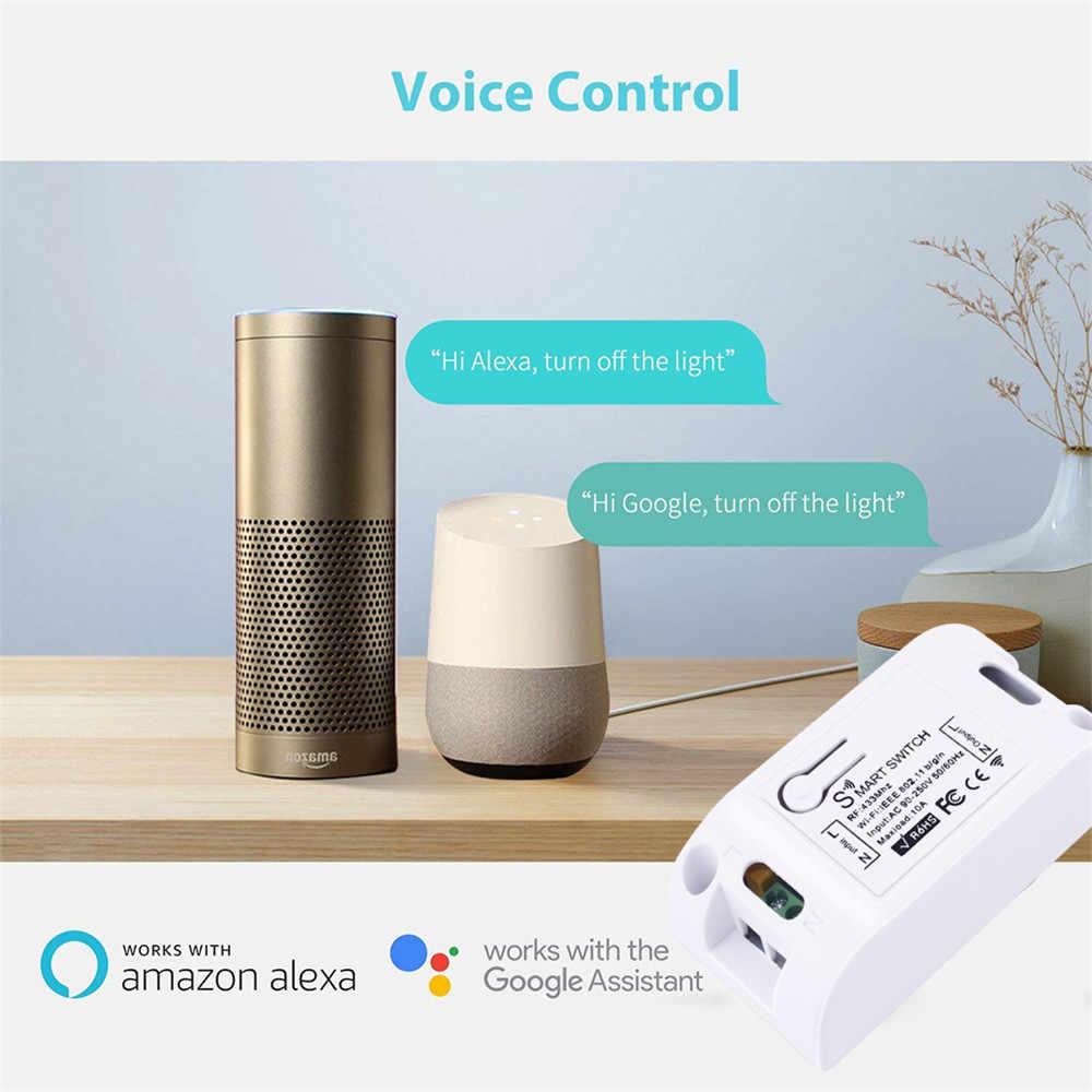 Smatrul Tuya Cuộc Sống Thông Minh Ứng Dụng Đẩy Công Tắc Wifi Đèn AC 110V 220V RF 433Mhz Tường Tự Làm Rơ Le hẹn Giờ Mô Đun Google Nhà Amazon Alexa