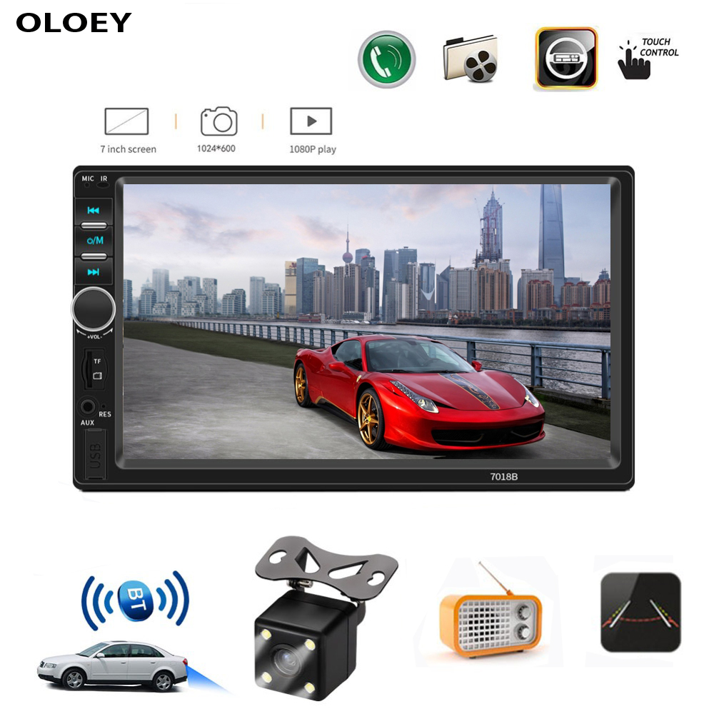 2 Din Car Radio Antena Android With Bluetooth And USB AUX MP3 MP5 Car Multimedia Player Touch Screen With Rear Camera