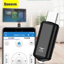 BASEUS Universal สมาร์ทรีโมทคอนโทรลสำหรับ MICRO พอร์ต IR รีโมทคอนโทรลไร้สายสำหรับ Samsung LG TV BOX Air เมาส์เครื่องปรับอากาศ