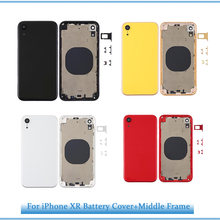 Задняя крышка для батареи xr iphone задняя средняя рамка Шасси