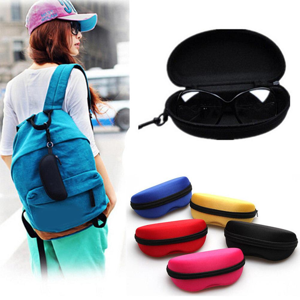 Protable 1Pcs Black Zipper Box Hard Eyewear Accessories Sunglasses Protector Travel Pack Pouch Glasses Case