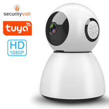Tuya Smart Home Security Mini WiFi Camera 1080P HD Pan Tilt Zoom IP Camera WiFi Baby Monitor with Two Way Audio IR Night Vision hd wireless robot ip camera 960p security camera 1 3mp cmos baby monitor pan tilt remote home security p2p ir night vision