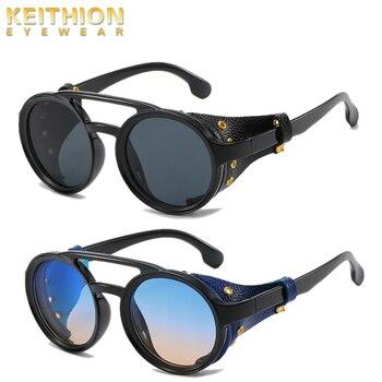 KEITHION-gafas de sol de moda Steampunk, lentes de sol de marca de...