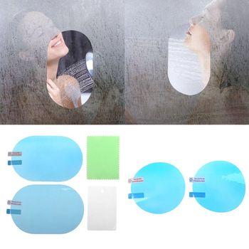 2 sztuk naklejka na samochodowe lusterko wsteczne folia ochronna Anti Fog folie okienne odporna na deszcz tylna folia odblaskowa ekran akcesoria ochronne tanie i dobre opinie CN (pochodzenie)