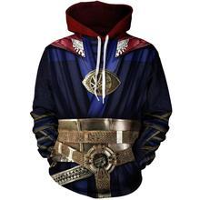 Doctor Strange Cosplay 3D Print Costumes Hoodies Men Women Sweatshirt Autumn Spring Streetwear Sportwear Clothing