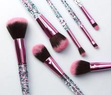 цена на Makeup Brushes Set 7Pcs Diamond Crystal brush set Foundation Blush Brush Powder Blending Eyeshadow Beauty Make up Brush Tool Kit