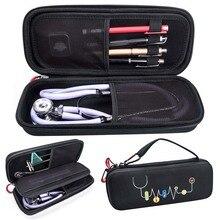 ハード EVA ポータブル聴診器キャリングケース収納ボックスシェルメッシュポケット 3 3m III 聴診器医療オーガナイザーバッグ