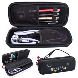 Image 1 - Hard EVA Portable Stethoscope Carrying Case Storage Box Shell Mesh Pockets for 3M Littmann III Stethoscope Medical Organizer Bag