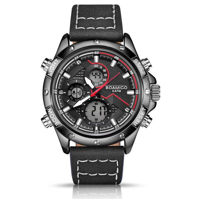 H8770c9556f144b1b91de83c4b6fce8dfk BOAMIGO Fashion Mens Watches men Military Digital analog Quartz Chronograph sport Watch Waterproof wristwatch relogio masculino