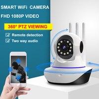 FHD 1080P WiFi telecamera IP Smart Home Security sorveglianza CCTV 360 PTZ Baby Pet tata Monitor Wireless Wi Fi Cam telecamera di sicurezza