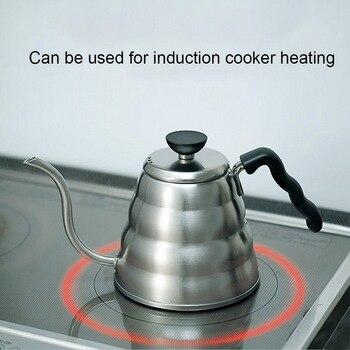 Stainless Steel Coffee Drip Gooseneck Kettle Pot Teapot Kettle Tea Maker 2020 Bottle Kitchen Accessories 1L/1.2L#2
