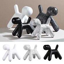 LITAO/_AXXB Resin Craft Balloon Dog Statue Ornaments Home Decoration Modern Abstract Resin Balloon Dog Sculpture,002