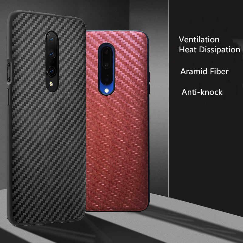 Phone Case For One plus 7 Carbon Aramid Fiber Texture Original Business Official Design Back Case Protective for Oneplus 7 pro