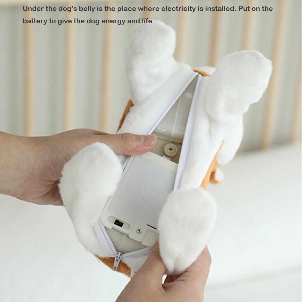 Robot Akita Âm Thanh Điều Khiển Chó Đi Dạo Điện Mẫu Búp Bê Sang Trọng Con Chó Con Thú Cưng Đi Bộ Vỏ Cây Dây Xích Teddy Đồ Chơi Điện Tử Trẻ Em Quà Tặng