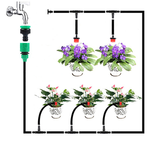Image 2 - DIY Automatic Irrigation System, Garden Watering Hose, Micro Drip Irrigation Kit with Adjustable Dripper, Spray Cooling System
