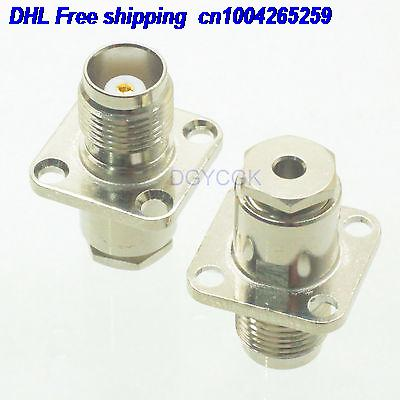 DHL 50pcs TNC Female Jack  Female Lange Clamp RG174 RG316 LMR100 Straight  Female  Connector  22-ct
