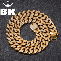 20mm Stainless Steel Curb Cuban Link Chain Hip Hop Punk Heavy Gold Silver Plated Cuban Necklace