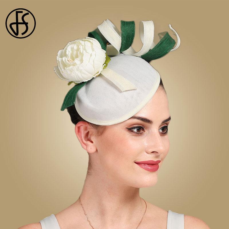 FS Fascinators For Women Elegant Blue Bow 100% Wool