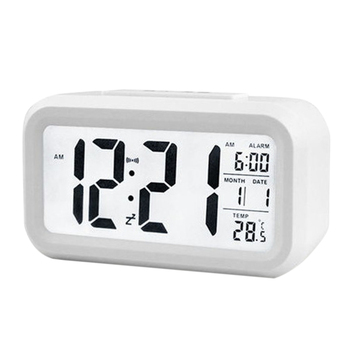 Pulpit elektryczny zegar na biurko alarm elektroniczny cyfrowy duży ekran LED zegar Data czas kalendarz zegarek na biurko tanie i dobre opinie Z tworzywa sztucznego Kalendarze JJ19089-01B Skoki ruch Z podświetleniem 75mm DIGITAL 6 cal Tradycyjny chiński Plac 45mm