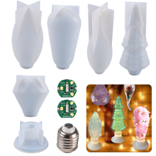 Molde de resina para bombilla de luz LED, molde de silicona para lámpara de pegamento epoxi DIY, herramientas de decoración artesanal, herramienta de joyería