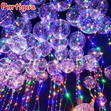 2pcs=(1pc 18/24inch Transparent Bubble Balloon+ 1pc Colorful 3M Led String Light )Wedding Birthday Christmas Party Decoration(China)