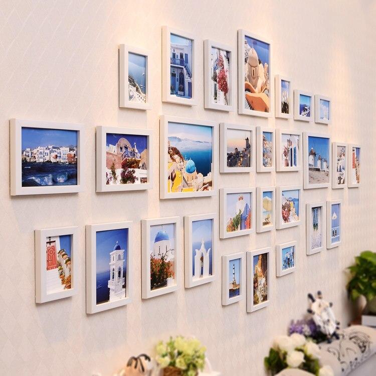 28 pçs/set Simples e Moderno europeu Photo Frame Família Molduras Para Pinturas Sala Decoração Da Foto Da Parede Combinação - 3